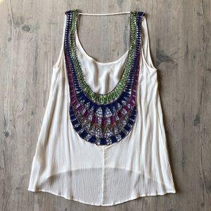 Surf Gypsy Open Crochet Back Tank/Coverup